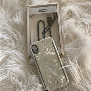 iPhone X Duo Light Case In  White Marble
